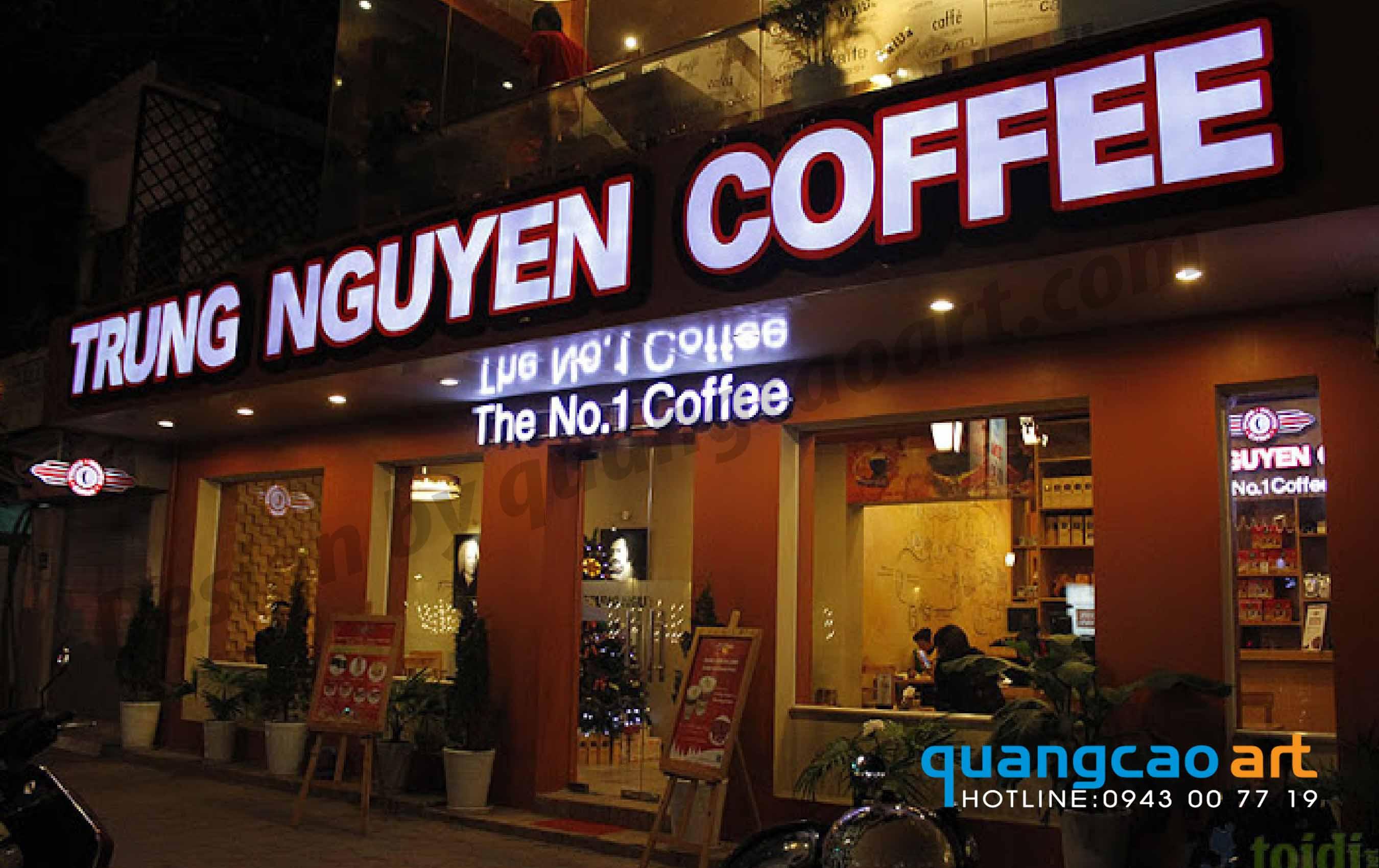 làm bảng hiệu quán cà phê