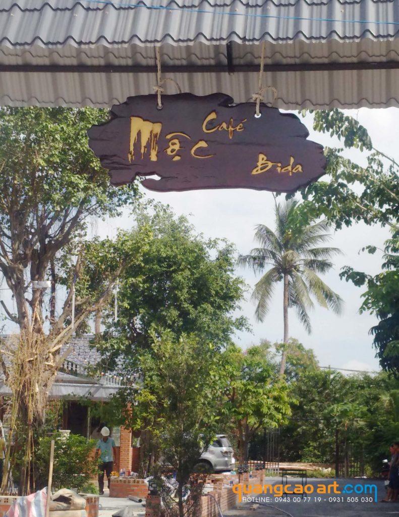 làm biển hiệu gỗ quán cafe, bảng hiệu quán cà phê đẹp