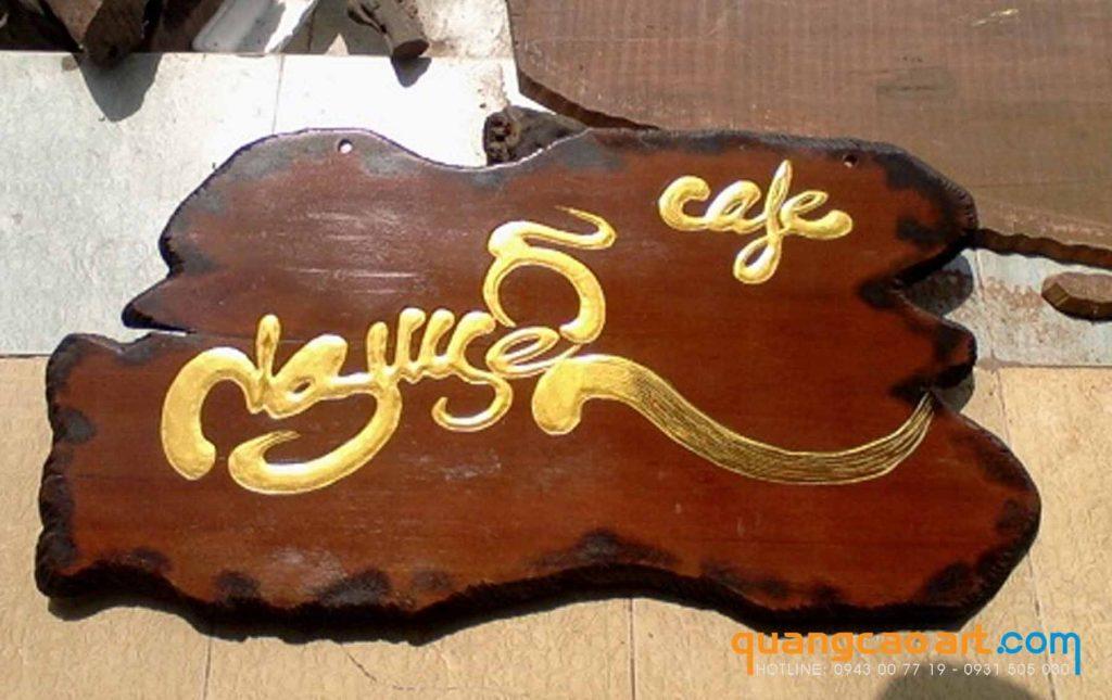 bảng hiệu gỗ quán cà phê đẹp