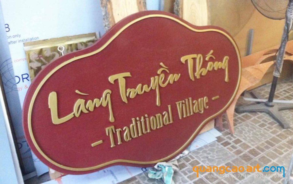 Bảng hiệu gỗ chữ nổi