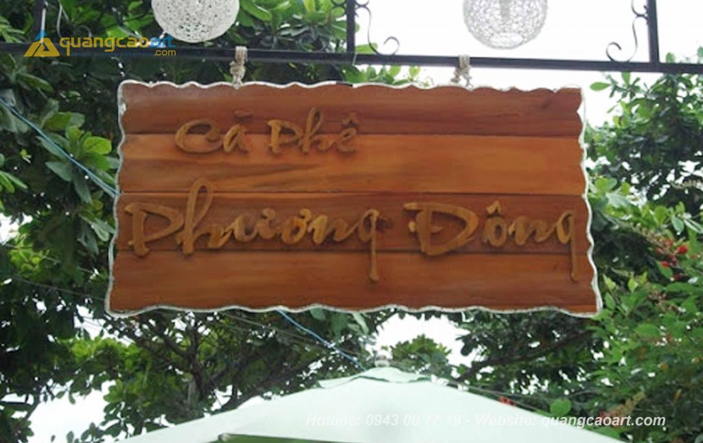 làm bảng hiệu ở bình dương, mẫu bảng hiệu gỗ đẹp ở bình dương