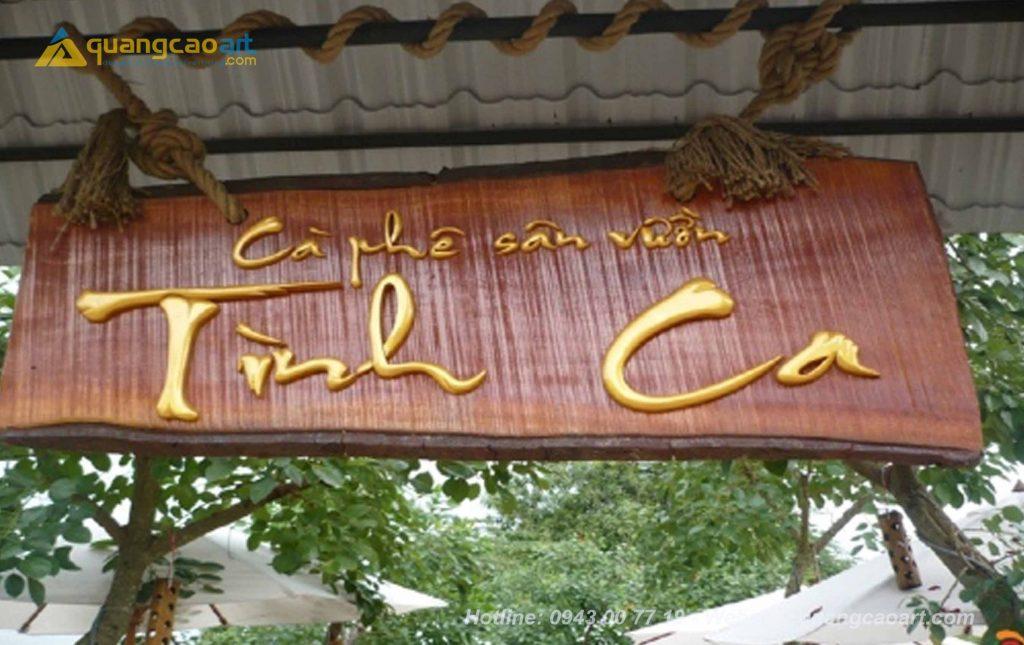 làm biển hiệu gỗ tại đà lạt, làm bảng hiệu gỗ đẹp tại đà lạt